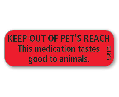 NEW! Keep Out of Pet's Reach...