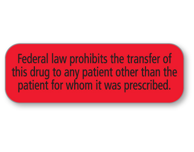 Federal Law Prohibits...