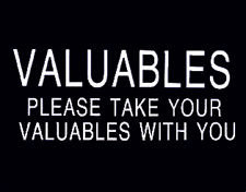 VALUABLES...