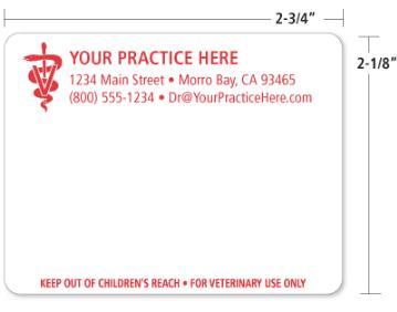 custom prescription labels for veterinarians vetrimark With custom prescription labels